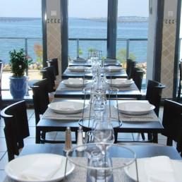 1er etage du restaurant avec vue sur le Bassin de Thau à Bouzigues